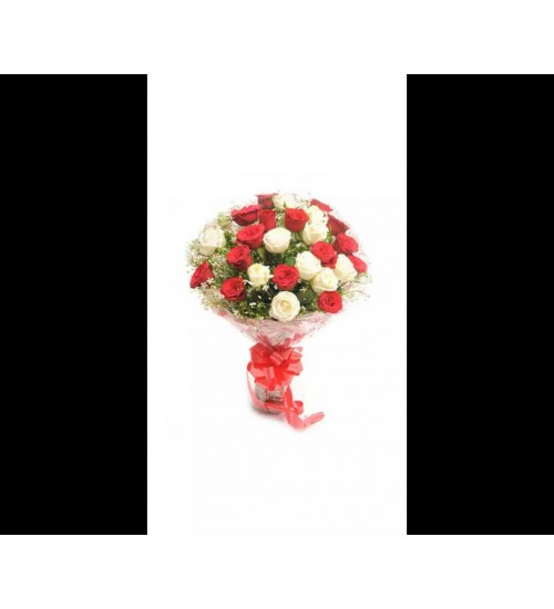 20 PCS RED N WHITE FLOWER BUNCH