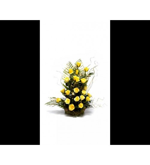 20 PCS YELLOW ROSES ROSES BOUQUET