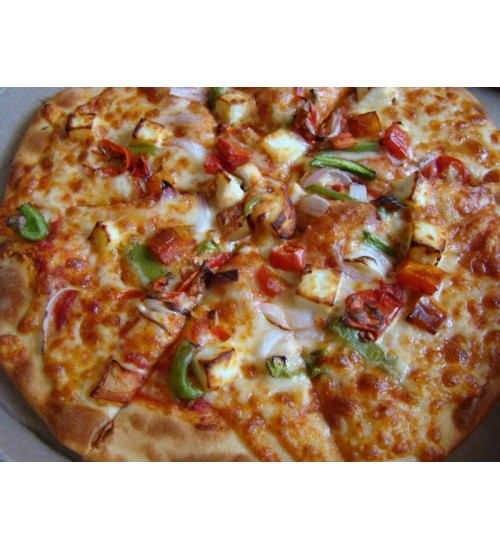 Cheese paneer pizza